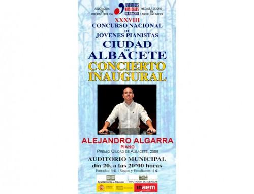 Concurso nacional de Jovenes Pianistas – Concierto inaugural – Alejandro Algarra